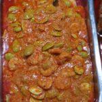 Sambal goreng udang peteh (pittige garnalen met peteh bonen)